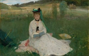 Berthe Morisot painting called Reading