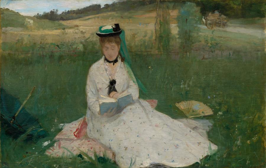 Berthe Morisot painting called Reading