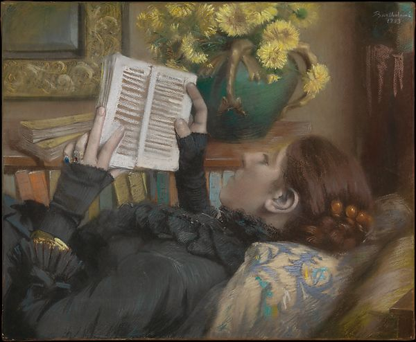 painting of a woman reading